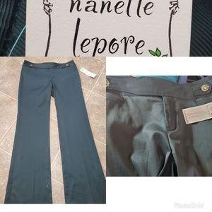 Nanette Lepore NWT Mike Todd Teal Flare Slacks 4